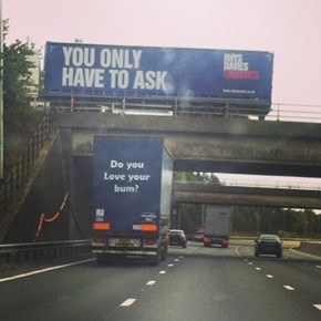 Unintentional Humor on the Highway