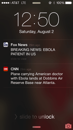 There's Two Kinds of News...