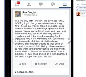 A Texan Cop is in Hot Water After Posting This Food Stamp Rant (With Casual Violent Threat Attached)