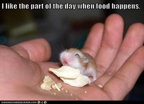 I like the part of the day when food happens.