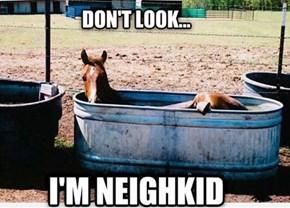 Hay!  I'm Bathing!