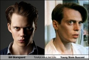 Bill Skarsgaard Totally Looks Like Young Steve Buscemi