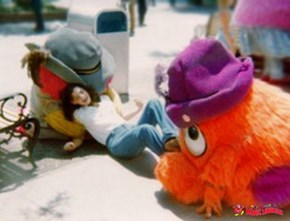 Who can name THESE theme-park masccots from the past?