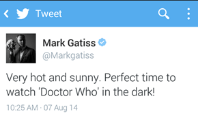 Mark Gatiss Understands My Summer Perfectly