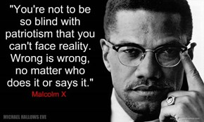 "Malcolm X - ""Wrong is Wrong"""