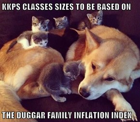 KKPS CLASSES SIZES TO BE BASED ON  THE DUGGAR FAMILY INFLATION INDEX