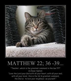 MATTHEW 22; 36 -39...