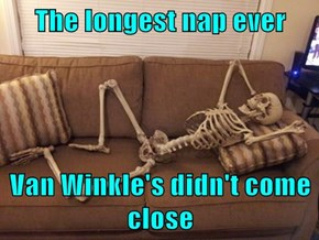 The longest nap ever  Van Winkle's didn't come close