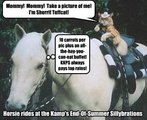 Trigger enjoys a cushy retirment job at Kamp Kuppy Kakes.