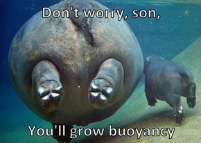 Don't worry, son,   You'll grow buoyancy