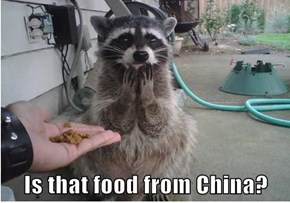Is that food from China?