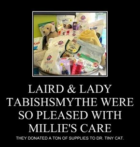 LAIRD & LADY TABISHSMYTHE WERE SO PLEASED WITH MILLIE'S CARE