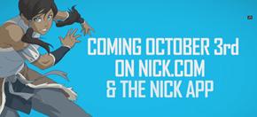 Korra Book 4 Starts on October 3rd!