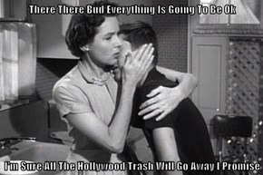 There There Bud Everything Is Going To Be Ok  I'm Sure All The Hollywood Trash Will Go Away I Promise