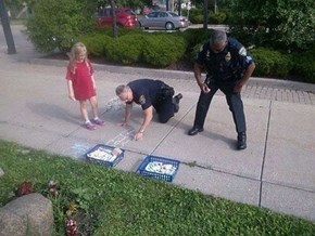 Officer Awesome, Reporting for Chalk