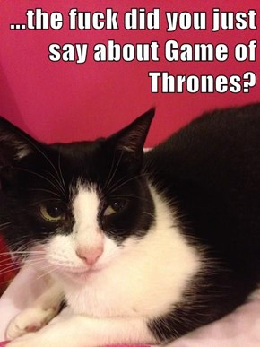 ...the f*ck did you just say about Game of Thrones?