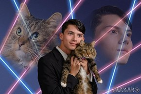 Teen Petitions School to Take a Yearbook Photo With His Cat Mr. Bugglesworth