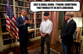 JUST A SMALL BOMB.  Y'KNOW, SOMETHING THAT WOULD FIT IN JOE'S LUNCHBOX.