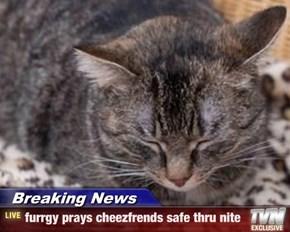Breaking News - furrgy prays cheezfrends safe thru nite
