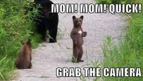 MOM! MOM! QUICK!  GRAB THE CAMERA
