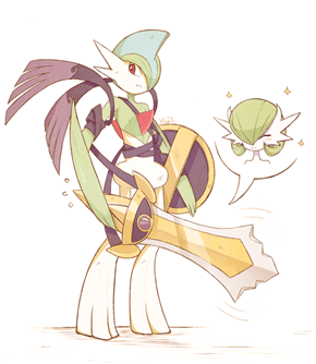 Gallade is Ready for Battle