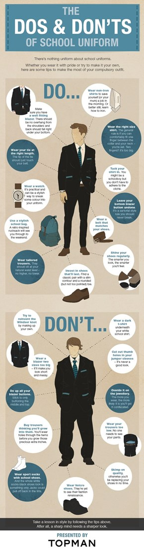 The Dos and Don'ts of School Uniform
