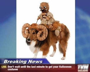 Breaking News - Don't wait until the last minute to get your Halloween costume