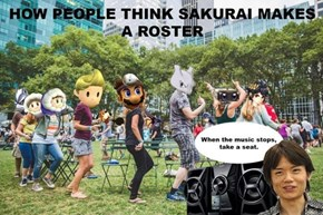 How People Think Sakurai Picks Characters for Super Smash Bros.