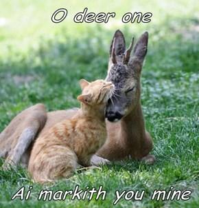O deer one  Ai markith you mine