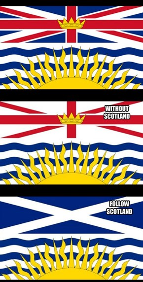 British Columbia Flag To Stay The Same!