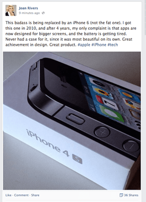 Joan Rivers is Apparently Plugging the New iPhone From Beyond the Grave