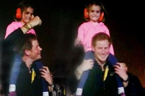 Royal Rescue of the Day: During the Closing Ceremony of the Invictus Games Prince Harry Gave This Little Princess a Lift