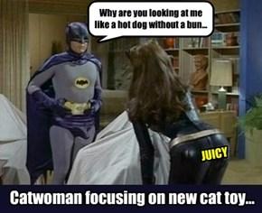 Advertising the batsausage...