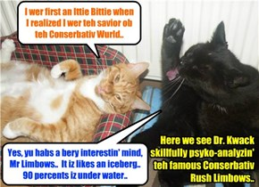 Becuz teh Shyster Millie wer bullied by a nawty kittie, KKPS habs hired teh distingwished psykiatrist Dr. Iza Kwack to teach a class so dat kitties won't be mean to ovver kitties..