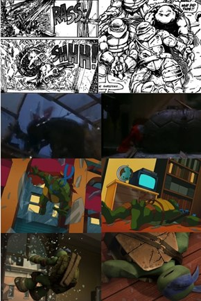 Ninja Turtles - Window Throw
