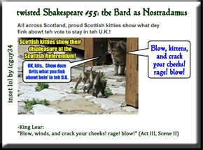 twisted Shakespeare #55: the Bard as Nostradamus