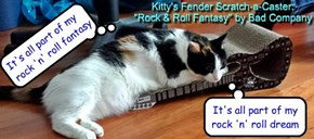 "Kitty's Fender Scratch-a-Caster: ""Rock & Roll Fantasy"" by Bad Company"