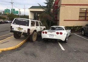 Oh, So You Want to Take Up Two Parking Spaces?
