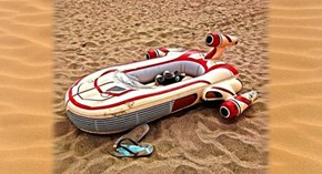 If You Have More Money Than Sense, This Landspeeder Inflatable Raft Could be Yours!