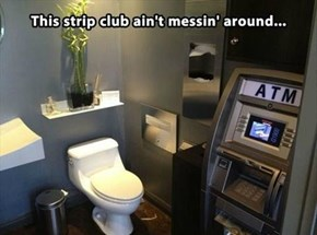 The Toilet Paper Dispenser is Actually a Hideaway ATM