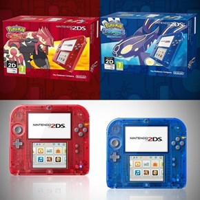 Check Out the New ORAS Bundle With New Special Transparent 2DS Models
