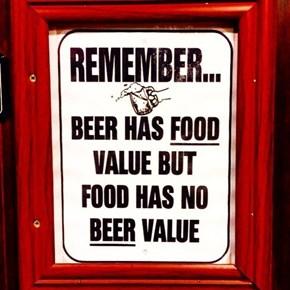 Beer Over Food...Always