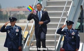 Obama Saluting Things
