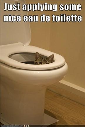 Just applying some nice eau de toilette