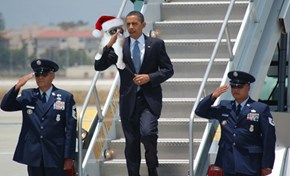 Obama Saluting Things #3