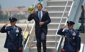 Obama Saluting Things #2