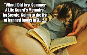 """What I Did Last Summer,  A Life Guard's Memoirs""  by Stewie: Going to the list of banned books in 3... 2..."