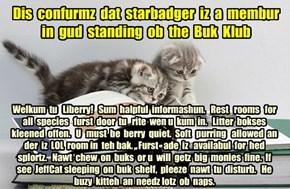 Offishul JeffCatsBookClub Memburship Kard for starbadger