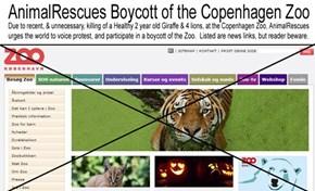AnimalRescues Boycott of the Copenhagen Zoo