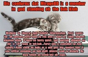 Offishul JeffCatsBookClub Memburship Kard for MirageBD